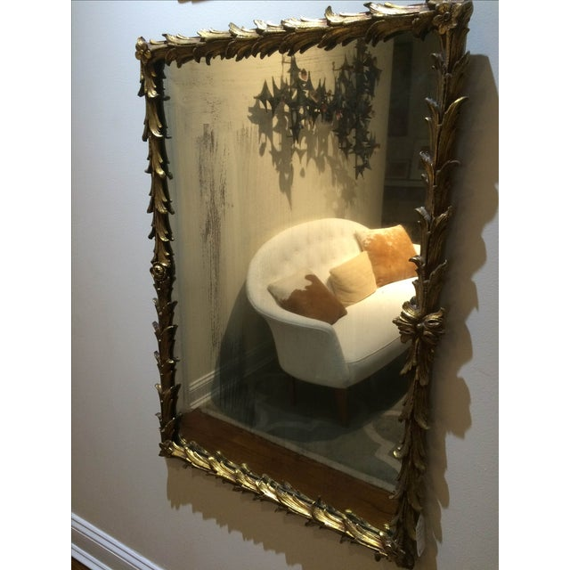 Vintage 1950s Rectangular Gilded Mirror - Image 4 of 8
