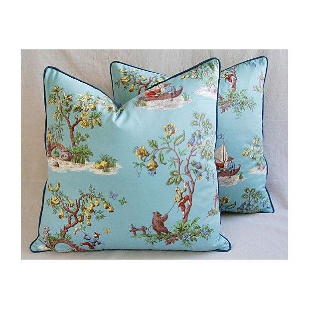 Italian Scalamandre Chinoiserie Pillows - Pair - Image 3 of 9