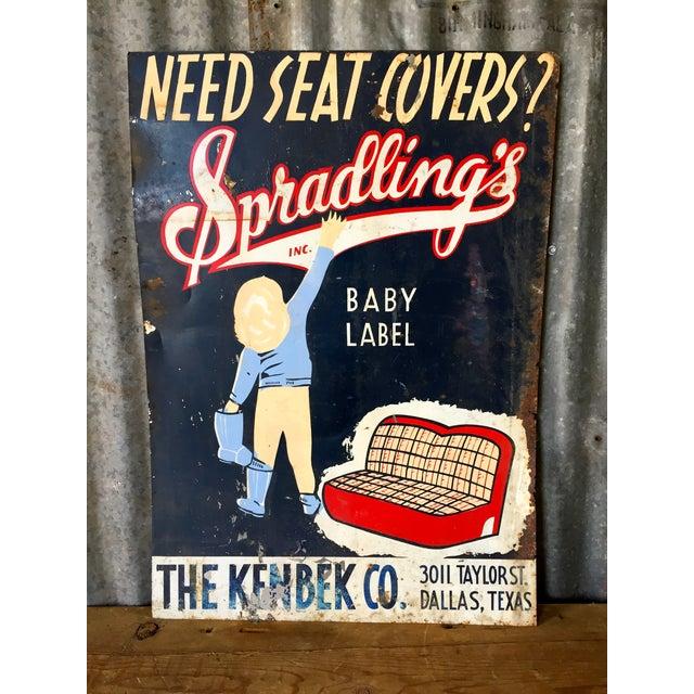 Vintage Spradling's Dallas Texas Trade Sign - Image 2 of 7