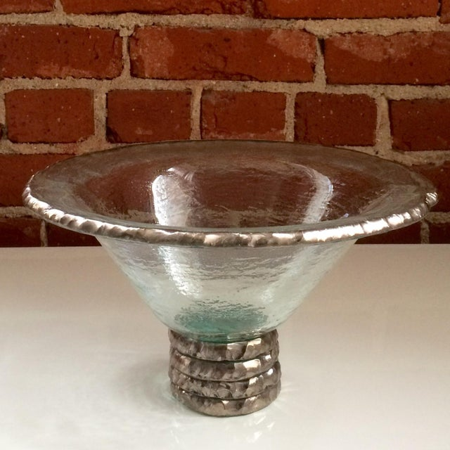 "Annieglass ""Edgey"" Glass Trophy Bowl - Image 3 of 8"