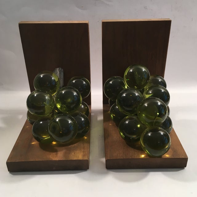 Vintage Lucite Grape Bookends - A Pair - Image 3 of 5