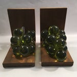 Image of Vintage Lucite Grape Bookends - A Pair