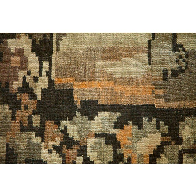 Russian Brown Kilim with Dogs - Image 4 of 6