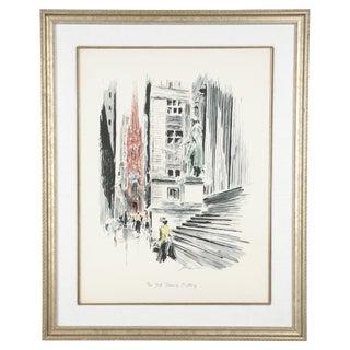 NY Treasury Building Silkscreen by John Haymson