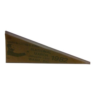 Vintage Martin Luther King Pennant, 1982