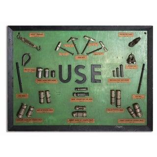 """""""Use"""" Framed Hardware Sign"""