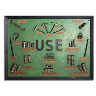"""Use"" Framed Hardware Sign"