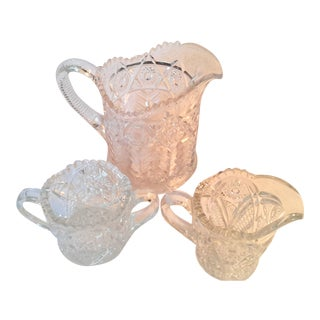 American Brilliant Period Sugar & Creamers - Set of 3