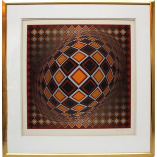 """TEKE"" Serigraph by Victor Vasarely"
