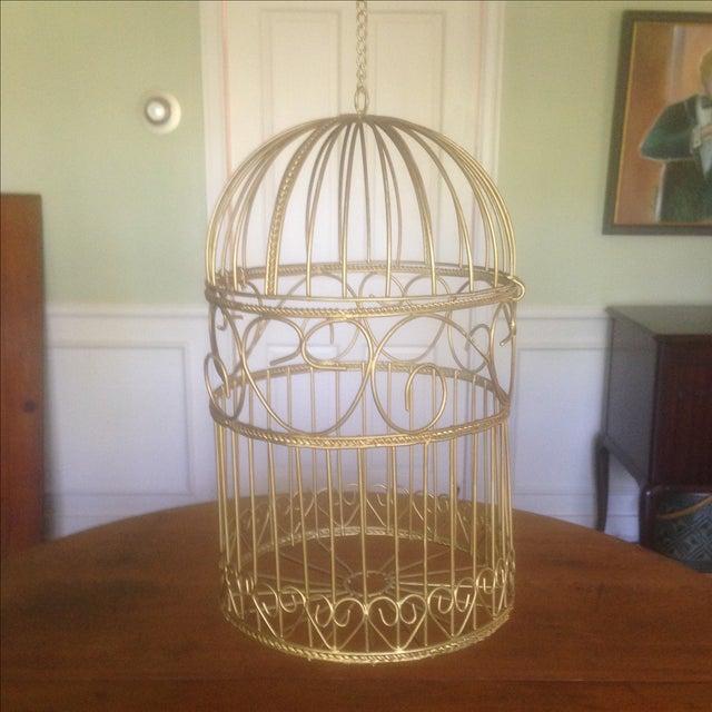 vintage decorative hanging bird cage chairish. Black Bedroom Furniture Sets. Home Design Ideas