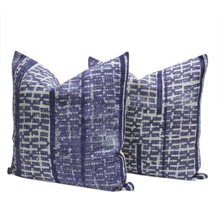 Indigo Batik Pillows - A Pair