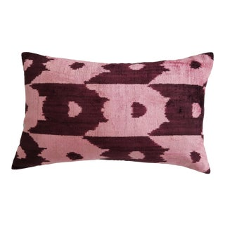 """Marcy"" Ikat Silk Velvet Pillow"