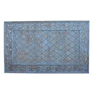 Grand Mid 20th Century Brass And Teak Panel