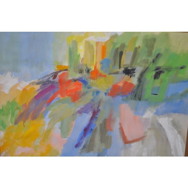 Colorful Modernist Abstract Painting C.1980's - Image 2 of 4