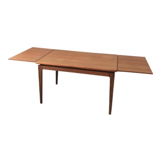Mid-Century Solid Teak Extension Dining Table