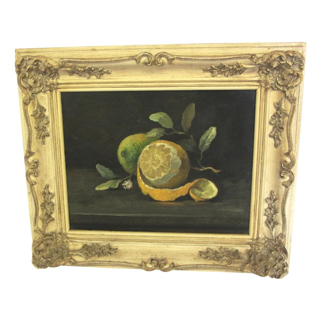 Lemon Still Life Original Oil by Hansen - Image 1 of 10