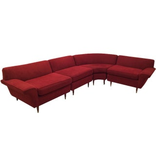Mid-Century Four-Piece Sectional