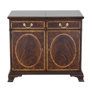 Henredon Flame Mahogany Bar Cabinet