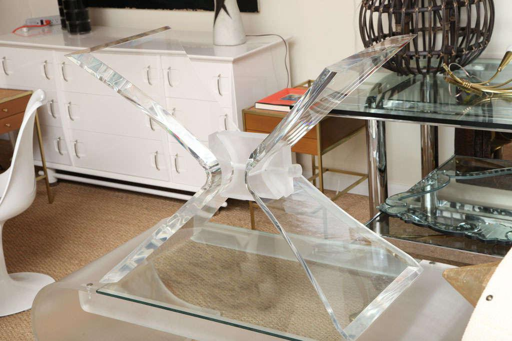 Lovely Leon Frost Style Lucite Console Table Base   Image 2 Of 10
