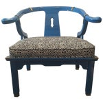 Image of Century Furniture Electric Blue Asian Style Chair