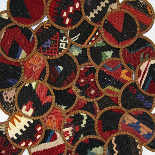 Vintage Bursa Kilim Coasters - Set of 4 - Image 2 of 2
