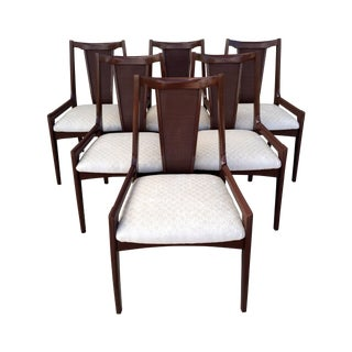 High Back Lacquered Dining Chairs - Set of 6