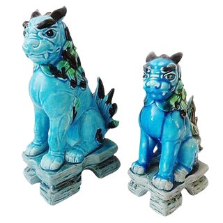Japanese Temple Foo Dogs - Set of 2