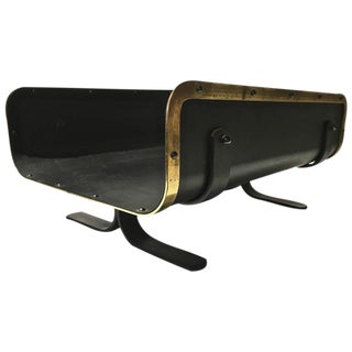 Mid-Century Brass Edge Trim Log Holder