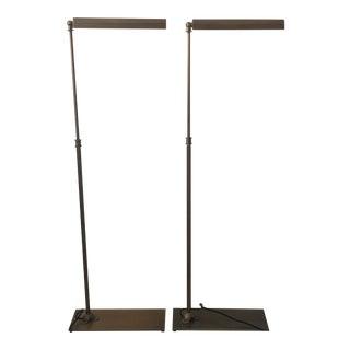 Restoration Hardware Slimline Floor Lamps - A Pair
