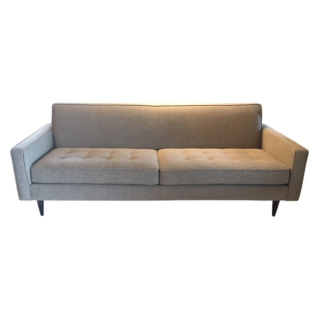 39reese39 gray sofa room board chairish for Reese sectional sofa room and board