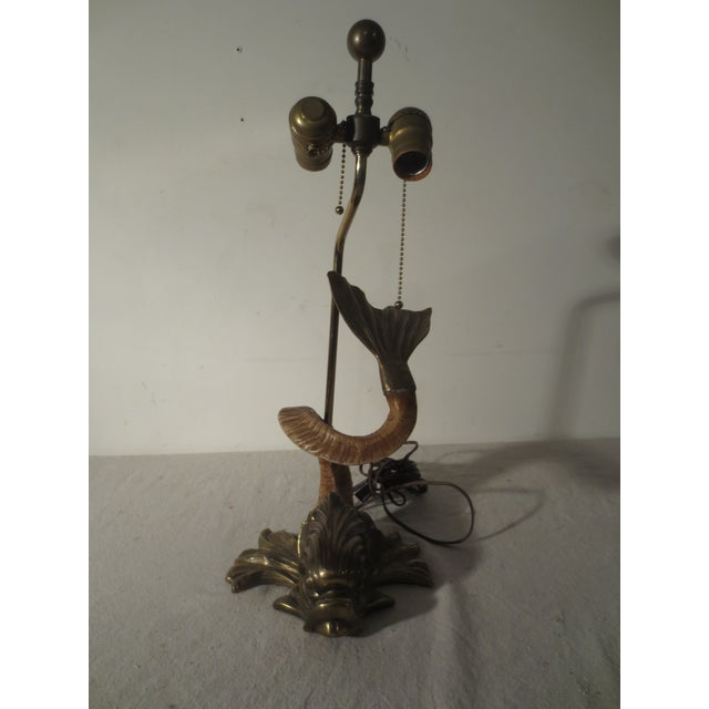 Image of 1970s Chapman Figural Brass Fish Table Lamp