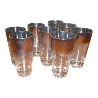 Mid Century Queens Lusterware Ombre Fade Glasses - Set of 8