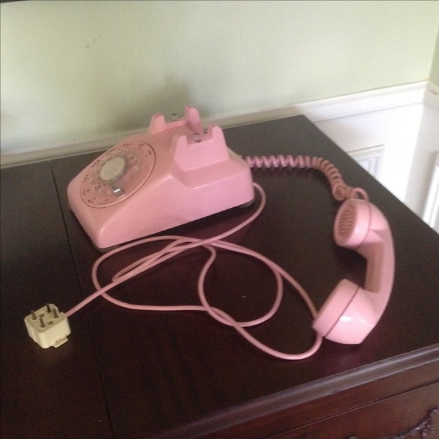 Vintage Pink Rotary Dial Telephone - Image 9 of 11
