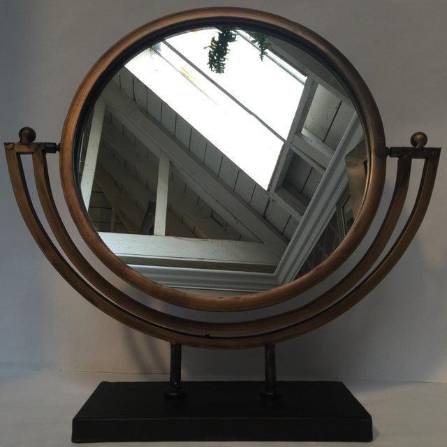 Antique Bronze Finish Mirror   Chairish