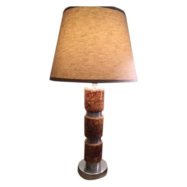 Russel Wright Cork & Aluminum Table Lamp - Image 1 of 4