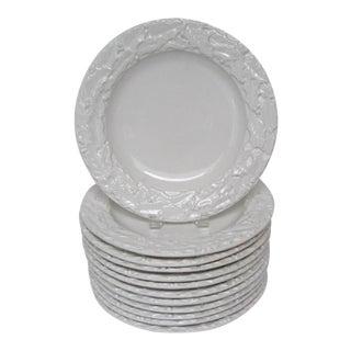 Italian Holly Leaf Dinner Plates - Set of 12