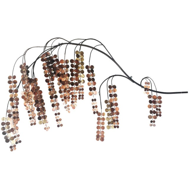 Curtis Jere Copper Weeping Willow Wall Hanging - Image 1 of 2