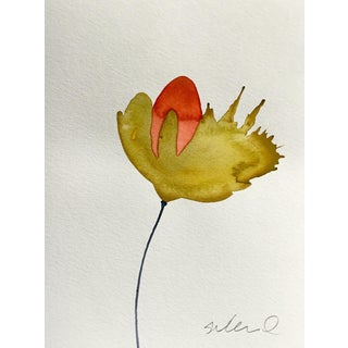 Red & Ochre Botanical Painting