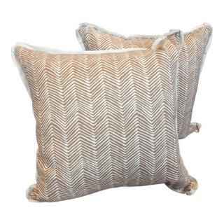 Quadrille Cream Pillows - A Pair