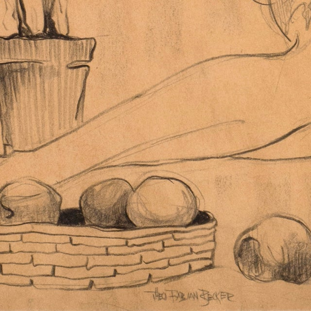 Image of Fabian Becker Reclining Nude Drawing