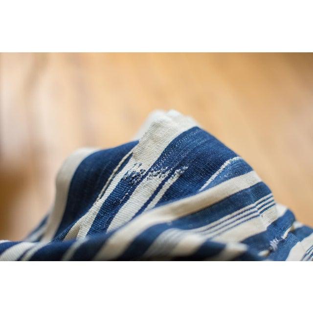 Vintage Indigo Stripe Throw - Image 7 of 7
