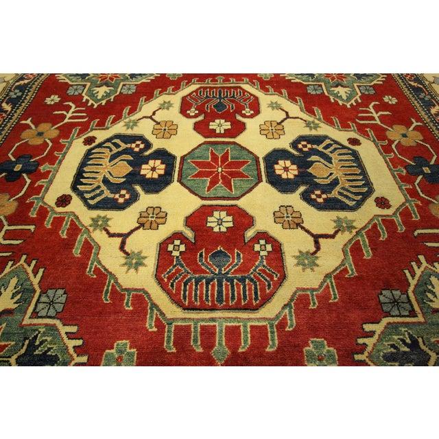 Traditional Super Kazak Rug Red- 8' x 11' - Image 6 of 11