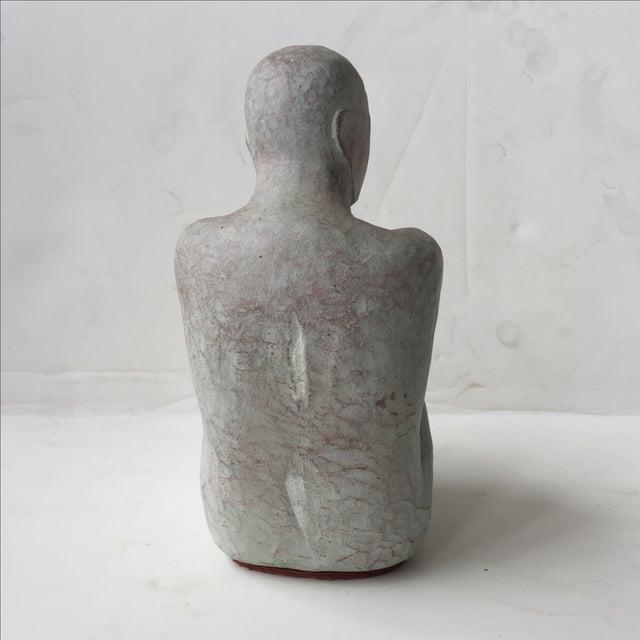 Men Seated Terra Cotta Sculpture - Image 3 of 11