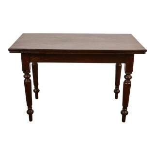 20th Century British Colonial Desk with Octagonal Legs