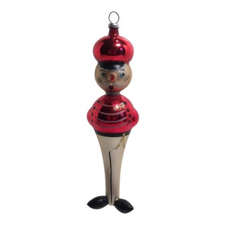 Made in Italy Hand Blown Toy Soldier Ornament by D Carlini