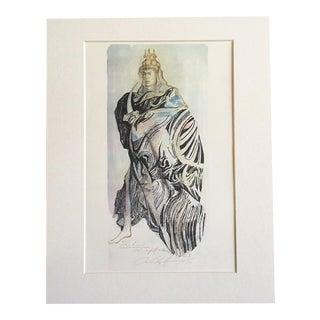 "Vintage Stratford Festival Costume Design Folio, Shakespeare's ""Pericles"" Costume Print"