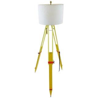 Hand Made Surveyors Tripod Lamp