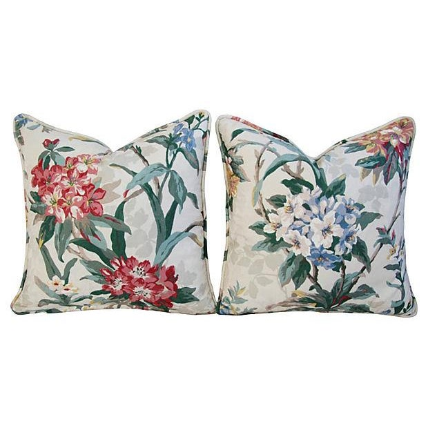 P. Kaufmann Rhododendron Pillows - A Pair - Image 5 of 7
