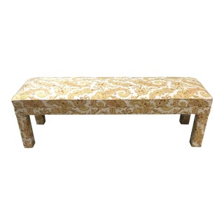 Parsons Style Upholstered Bench