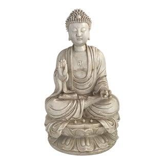 Blanc De Chine Buddha Meditating on Lotus Flower